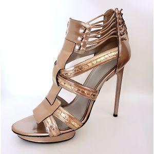 Jason Wu Rose Gold Carolyn Platform Heels